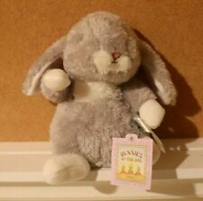 "NWT Bunnies By The Bay Sleepy Baby Bunny Plush Animal Super Soft Sitting 8"""