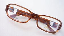 Brille Brillenfassung Kunststoff Gestell braun elegant schmale Form Savini GR M