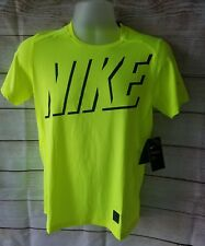 Nike Boys Pro Hypercool Neon Yellow T Shirt SIZE XL new with tag A