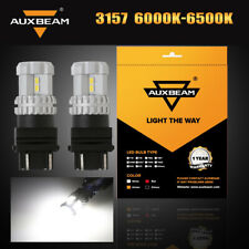 AUXBEAM 3156 3157 LED Turn Signal Light Bulb White For GMC Sierra 1500 2500 3500