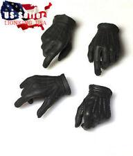 1/6 Men Black Gloves Gun Hands Robbers JOKER For Hot Toys PHICEN Ganghood ❶USA❶