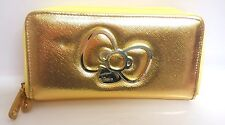 【Hello-Kitty】Long wallet Luck UP gold L DX Wzipper japan orijinal SANRIO