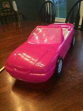 """Barbie Hot Pink Car Ford Mustang GT American Plastic Toys USA 21""""L x 8""""W"""