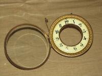Open Escapement Porcelain Dial & Bezel Mantle Clock Parts