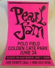 Pearl Jam Poster 1995 Bad Religion Rex Ray Golden Gate Park Neil Young Vedder