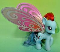 My Little Pony G4 Friendship is Magic 2012 Brushable Rainbow Dash Glimmer Wings