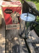 Vintage Sunbeam 30 Cup Automatic Party Size Percolator Coffee Maker With Box