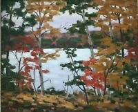 Untitled Landscape S433 - Original Oil Painting by Cdn Artist George Thomson
