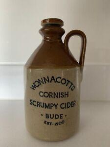 Wonnacotts Cornish Scrumpy Cider Bude Stoneware Flagon Bottle Moira Pottery