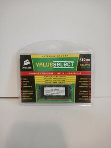 Corsair Value Select 512MB DDR1 RAM PC2100 266MHz SO-DIMM NEW