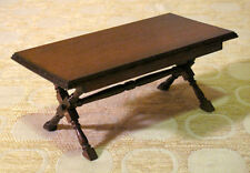 Vintage Dollhouse Concord Miniatures Handmade LARGE Wood Rectangular TABLE New