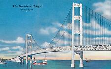 America Postcard - The Mackinne Bridge - Center Span - Michigan  BB746