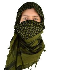 Shemagh Military Army Tactical Scarves Desert Dark Olive Black Scarf Heavyw