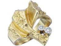 """Lapponia Ring """"Diamond Twig"""" Diamanten 750er Gelbgold"""