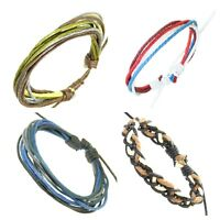 Coloured Cord Wrap Bracelet Bangle Braided Rope Multi Layer Jewellery Men Women