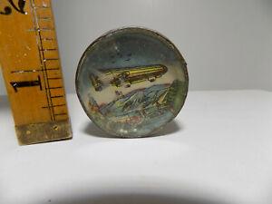 Vintage Airship Zeppelin Dexterity Palm Puzzle Tin Toy c1920s