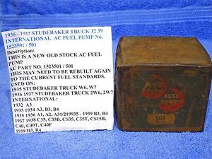 1932-1939 Studebaker Truck International AC Fuel Pump NOS
