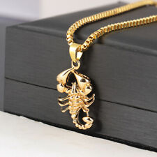 Fashion Hip Hop Men Scorpio Long Chain Sweater Necklace Punk Rock Jewelry Gif|JC