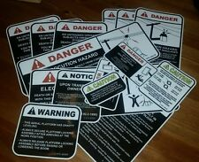 3M Qty 16 Bucket Truck Safety Warning Decal Sticker kit Altec at200a