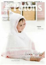 VAT Free Hand Knitting PATTERN ONLY Patons Baby Poncho Mitts Booties 3976 New