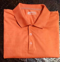 NIKE Golf Men's Golf Polo Short Sleeve Shirt Size Large Orange FitDry