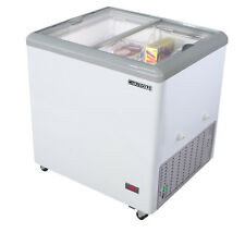 "Maxx Cold 31"" Wide Commercial Sub Zero Mobile Ice Cream Glass Display Freezer"