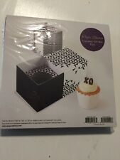 New Paper Eskimo Cupcake Gift Box 6pc Black and White