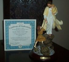 "Vintage The Bradford Exchange ""Let The Children Come to Me"" Figurine with Coa"