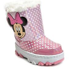 Minnie Mouse Disney Pelo Sintético Impermeable Térmico Botas de Nieve