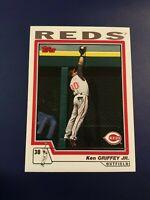 2004 Topps # 510 KEN GRIFFEY JR Cincinnati Reds Baseball Card Sharp LOOK !