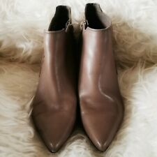 Marks & Spencer Autograph Women's Heels Boots Brown Size 6 Leather Imsolia