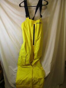 Classic Medium Yellow WEST MARINE Third Fleet Waterproof Bib Overalls