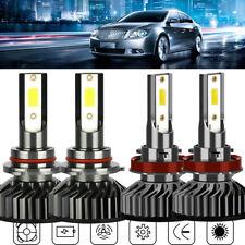 For GMC Sierra 1500 2007-2013 LED Headlight High Low Beam 9005 H11 Combo 4 Bulb