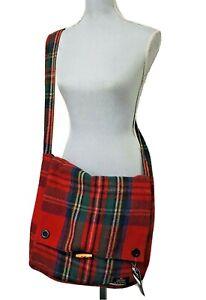 NEW Patrick King Royal Stewart Tartan Merino Wool Keri Messenger Bag plaid xbody