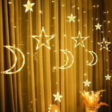 LED Star Fairy String Curtain Window Lights Twinkle Christmas Party Wedding Warm