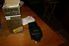 Sunpak Auto 433 D Thyristor Electronic Flash ORIGINAL BOX ORIGINAL PAPERS