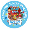 48 Personalised Party Bag Stickers Paw Patrol Sweet Bag Seals 40mm Cone Labels