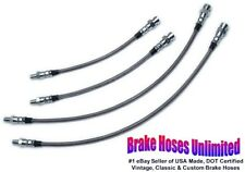 STAINLESS BRAKE HOSE SET Volkswagen Beetle, IRS Axle 1972 1973 1974 1975, Disc