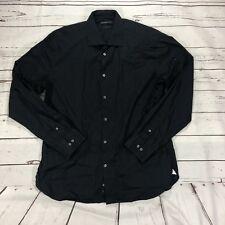 John Varvatos Men's Size 16 1/2 34/35 Black Button Up Shirt Slim Fit