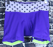 Lululemon Athletic Bicycle Shorts Size 4 XS Polka Dot Reflective Stripe Padded