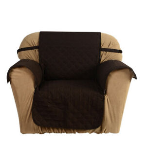 Quilted Microfiber Soft Sofa Cover Cushion Backrest Slipcover Covering Mat Q5D1