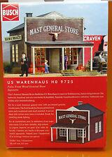 Busch 9725 Bausatz: US Gemischtwarenhandel (General Store) H0