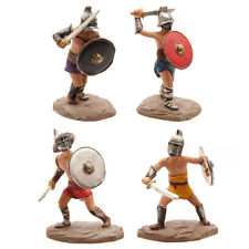 4 FIGURINES GLADIATEURS ROMAINS