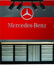 Mercedes Benz AMG premerger Classic racing garage Round Metal sign