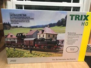 Trix 21532 H0 Starter Set EraIII Steam Engine - Tough to find in USA - New!