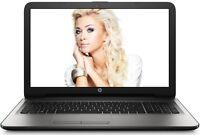 "HP Windows 10 Laptop 15.6"" LED QuadCore 4GB 500GB HD DVD+RW WebCam WiFi HDMI USB"