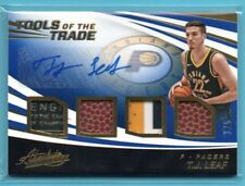 2017-18 Absolute TOOLS OF THE TRADE BLUE T.J. Leaf #/5 RC AUTO TAG PATCH PACERS