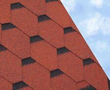 HEX Felt Roofing Shingles | Shed Felt Roof Shingles | RED THREE TAB 3M2/PACK