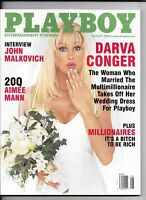 Back Issue August 2000 Playboy Magazine ~ Darva Conger Cover & Nude ~ FINE