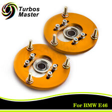 Pair For BMW E46 320 323 325 328 M3 Front Coilover Camber Plate Top Mount Golden